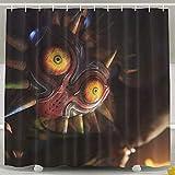 Setyserytu Cortina de la duch, Shower Curtain with Hooks Skull Kid The Art Video Games Cool Shower Curtain 60x72inch