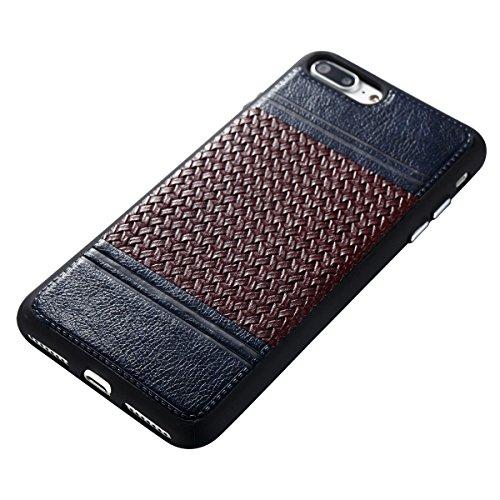 Étui en gel doux iPhone 8 Plus, Coque iPhone 7 Plus, Lifetrut Ultra Mince Doux [Motif en cuir] Housse en Caoutchouc TPU pour iPhone 8 Plus/ iPhone 7 Plus [01] E202