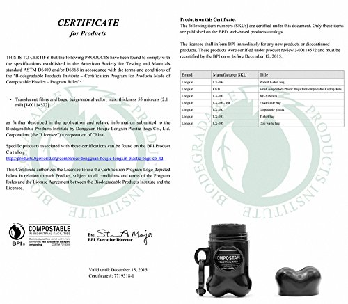 Aodoor Kotbeutel 100% Biologisch Abbaubar, Hundekotbeutel mit Beutelspender Gassibeutel / Hundebeutel Biologisch Abbaubar Umweltfreundlich Kompostierbar 11 Rollen - 6