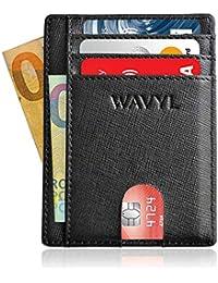 WAVYL Portafoglio Uomo Piccolo Sottile - Anti Graffio - Protezione RFID NFC  Di 3a Generazione - Porta Carte Di… 460bb0be7176