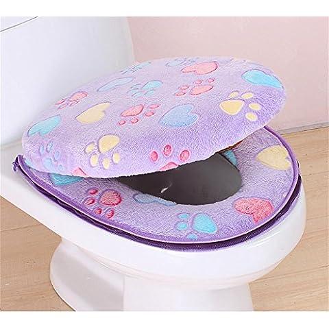ALUK- (1 set di 2) più spessa WC cuscino anello toletta impermeabile universale ( colore : #4 )