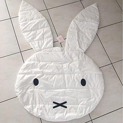 GRENSS Kaninchen-förmige Boden Decke Baby krabbeln Teppich Baby Stock spielen Matten Kinderzimmer Dekoration Teppiche schleichende Mat 106 cm (Kaninchen Willkommen-matte)