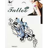 King Horse King Horse Wasserdicht und Schweiß temporäre Tattoos blauer Schmetterling violett