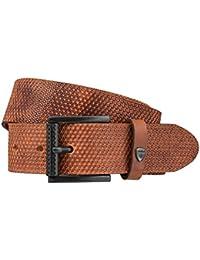 STRELLSON ceinture hommes ceinture en cuir marron