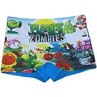 chenstaruk ragazzi cartoon bambini pantaloncini da bagno Bambini Spiaggia Trunks 6–12Years Plant VS Zombie M (3-5Years)