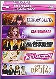 Pack Chicas En Acción 5 Dvds: (Casi Famosos, Los Angeles De Charlie, Jovenes Y Brujas, Maria Antonieta, Ultravioleta)