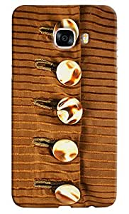 Omnam Buttons Design On Shirt Printed Back Cover Case For Samsung Galaxy C7