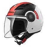 LS2Casque moto of562Airflow Condor, blanc/noir/rouge, XS