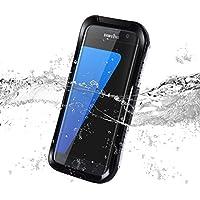 JAMMYLIZARD   Schalen Case für [ Galaxy S7 Edge] Wasserdichte Schutzhülle, SCHWARZ