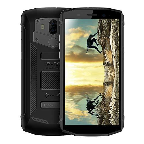 Blackview BV5800 4G Outdoor Handy mit IP68 Wasserdicht und Staubdicht, 5.5 Zoll 18: 9 Bildschirm, Android 8.1 2GB/16GB Quad Core, 5580mAh Schnellladung, Dual Rückkameras (Schwarz)