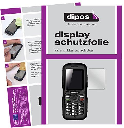 dipos I 2X Schutzfolie klar passend für RugGear RG100 Folie Bildschirmschutzfolie
