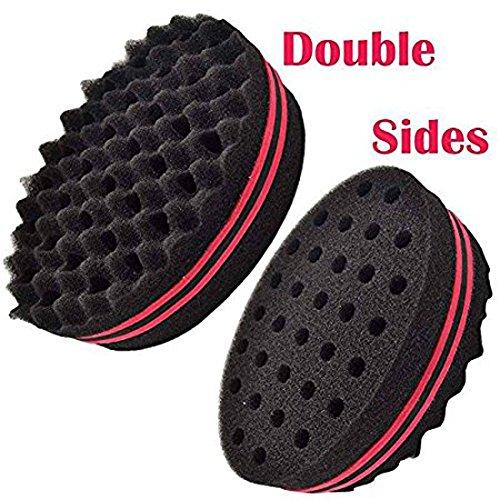 Haarbürste Schwamm das DIY Personal Schlaf Schaum Lockenwickler Werkzeug Haarstyling Produkte Doppel Barber Hair Brush Sponge / Dreads Sperren Twist Coil Afro-Wellung Wave-Oval