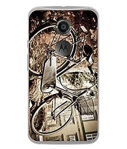 PrintVisa Cyclist Silhouette High Gloss Designer Back Case Cover for Motorola Nexus 6 :: Motorola Nexus X :: Motorola Moto X Pro :: Google Nexus 6