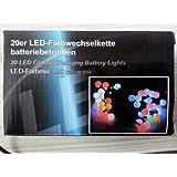 Led Lichterkette 20 Lämpchen Farbwechsel RGB batteriebetrieben