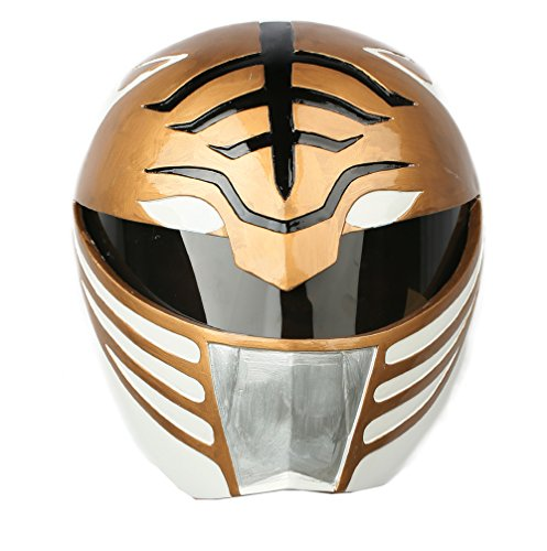 Kostüm Red Mighty Morphin Ranger - Halloween Ranger Helm Cosplay Kostüm Herren Voller Kopf Harz Maske Replikat Fancy Dress Merchandise Zubehör