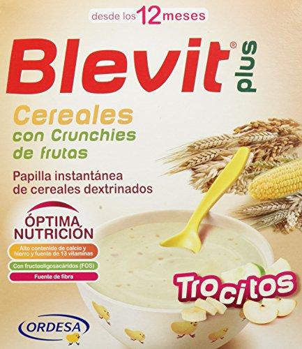 Blevit plus trocitos cer/cruchies fruta 600 gr