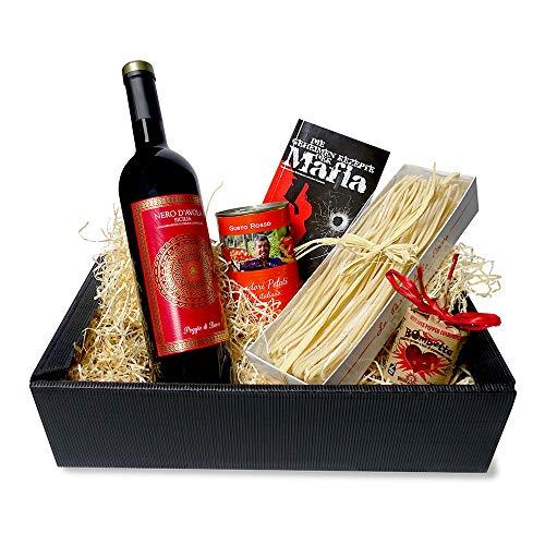 Italienisches Geschenkset M.A.F.I.A. mit Italienische Spezialitäten – Feinkost Geschenkkorb | Perfekt zum Verschenken