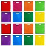 Aneco 40 Piezas DE 10 por 12 Pulgadas Bolsas no Tejidas de poliéster Bolsa de Asas con Asas de Regalo Goodie Bolsas de Disfraces de Colores Rainbow para Favores de Fiesta, 8 Colores