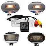 Dynavsal Einparkhilfe, Kamera für Nummerschildbeleuchtung, Kennzeichenbeleuchtung Farb Rückfahrkamera für C E CLS Klasse Class W203 W211 W219 W209 300 (Nr. 2 Größe 25 * 65mm bis Runder Rand)