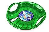 Prosperplast Tellerschlitten Speed D=60cm Rodelteller Schlitten Lenkschlitten Rennrodel (grün)