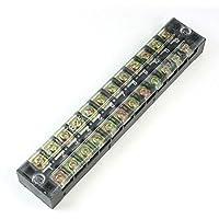 Filas de 600V 25A dobles 12P 12 puestos cubiertos Barrera Bloque de terminales de tornillo