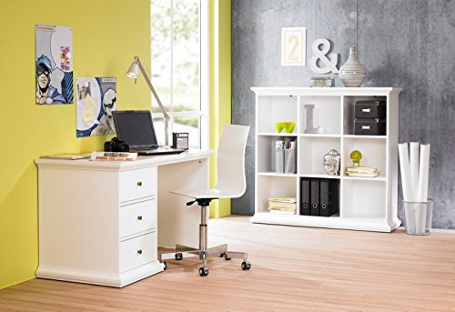 Paris Büro Komplett Komplettsystem Schreibtisch Regal Weiß