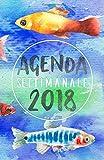 Scarica Libro Agenda Settimanale 2018 blu acqua Weekly Planner in italiano del 2018 da borsa 12 mesi 52 settimane (PDF,EPUB,MOBI) Online Italiano Gratis