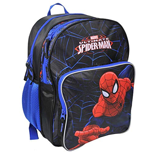 (Kinder Rucksack 38x31x20 cm - Marvel Ultimate Spider-Man Collection - SCHWARZ/BLAU / ROT)