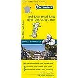 Carte Bas-Rhin, Haut-Rhin, Territoire de Belfort Michelin