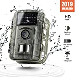 Gosira 12MP 1080P Trail Wildlife Camera Trap with Infrared Night Vision - Camouflage