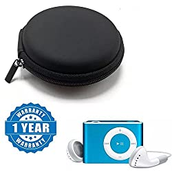 Captcha Earphone Storage Box Case Mini Zippered Round Storage Hard Bag With iPod Clip MP3 Player With Stylish Design Simple Mp3 player Rechargable and TF Card support Compatible With Xiaomi, Lenovo, Apple, Samsung, Sony, Oppo, Gionee, Vivo Smartphones (One Year Warranty)