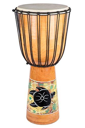50cm Djembe Drum Trommel Bongo Schildkröte Natur Holz Super Klang + Anleitung