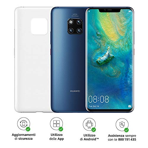 "Foto Huawei Mate 20 Pro (Blu) più Cover Originale, Telefono con 128 GB, Display Oled 6.39"" QHD+, Processore Kirin 980 Octa Core dinamico con Intelligenza Artificiale [Versione Italiana]"