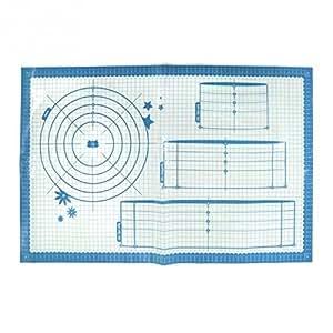 Lily Cook KP5201/2Web Tapis de Travail pour Pâtisserie Plastique Bleu
