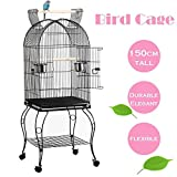 Beyondfashion Large Pet Bird Budgie Canary Aviary Parrot Cage African Grey Cockatiels African Macaw Parakeet Budgie Open Top Perches Stand Cage