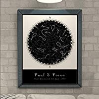 Personalised Star Map Print for all Occasions - Birth, Weddings, Anniversaries