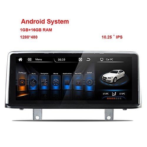 Spiegel-reverse-kamera Für Auto (freeauto für BMW 3F30F31F34Android 26cm Media Player Auto KFZ GPS-Navigation unterstützen Kamera, Reverse Radar, Rückseite Flugbahn DVR WiFi Spiegel Link)