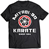 9018 Miyagi Do Uomo T-Shirt Karate Kid Bonsai Tree Cobra Kai Kung-Fu Martial Arts(Large,Black)