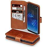 Galaxy S8 Case, Terrapin [ECHT LEDER] Brieftasche Case Hülle mit Standfunktion Kartenfächer und Bargeld für Samsung Galaxy S8 Hülle Cognac