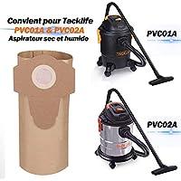 TACKLIFE Sachet Filtre Papier, 5 Sacs à Poussière pour PVC01A et PVC02A de TACKLIFE -PVC00Z