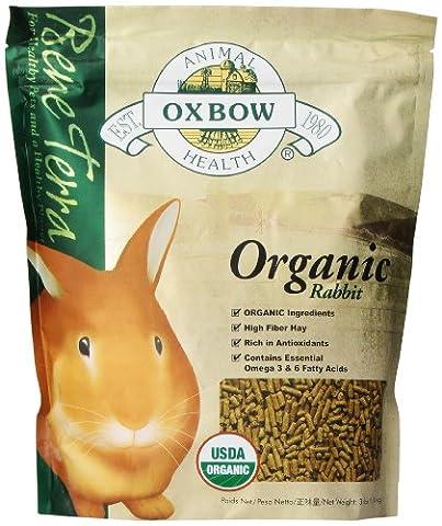 OXBOW Health Bene Terra Organic Rabbit Food and Treat Formulated High Fiber 3lbs