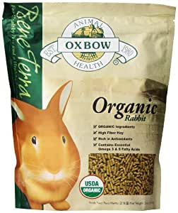 OXBOW Health Bene Terra Organic Rabbit Food and Treat Formulated High Fiber 3lbs