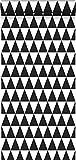 Tapete grafische, geometrische Dreiecke Schwarz und Weiß - 128845 - von ESTAhome.nl