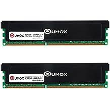 QUMOX 16GB (2x 8GB) DDR3 1600MHz 1600 PC3-12800 (240 PIN) MEMORIA DIMM para computadora escritorio PC
