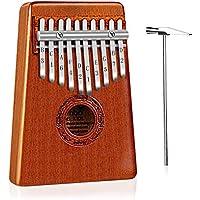 Mugig Kalimba Mbira Sanza 10 tasti Thumb Piano Pocket Size Principianti amichevoli che supportano la borsa Kalimba e la notazione musicale