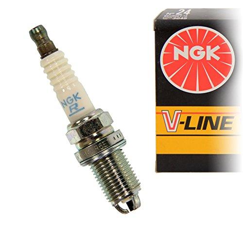 Preisvergleich Produktbild NGK 3045 BKUR6ET-10 V-Line 24 Zuendkerze, pack of 4
