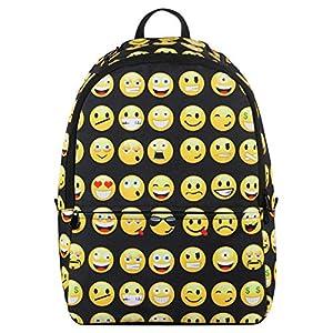51Fx5m3e2yL. SS300  - Veevan Mochila Negra con Emoticones Para Niños