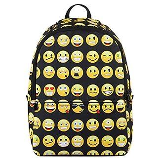 51Fx5m3e2yL. SS324  - Veevan Mochila Negra con Emoticones Para Niños