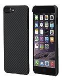 iPhone 7 Plus Hülle von PITAKA Aramid - schwarz / grau (Köper) 5.5 Zoll Schutzhülle ultra dünn...