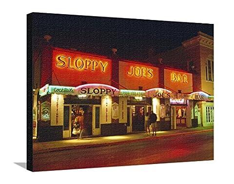 Sloppy Joe's Bar, Duval Street, Key West, Florida, USA Stretched Canvas Print by Fraser Hall -81 x 61